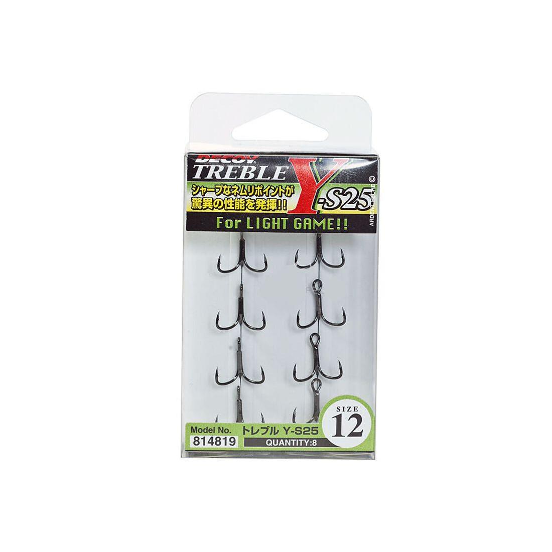 Decoy Y-s25 Treble Hook Light Game Treble Hooks Size 12-4819 for sale online