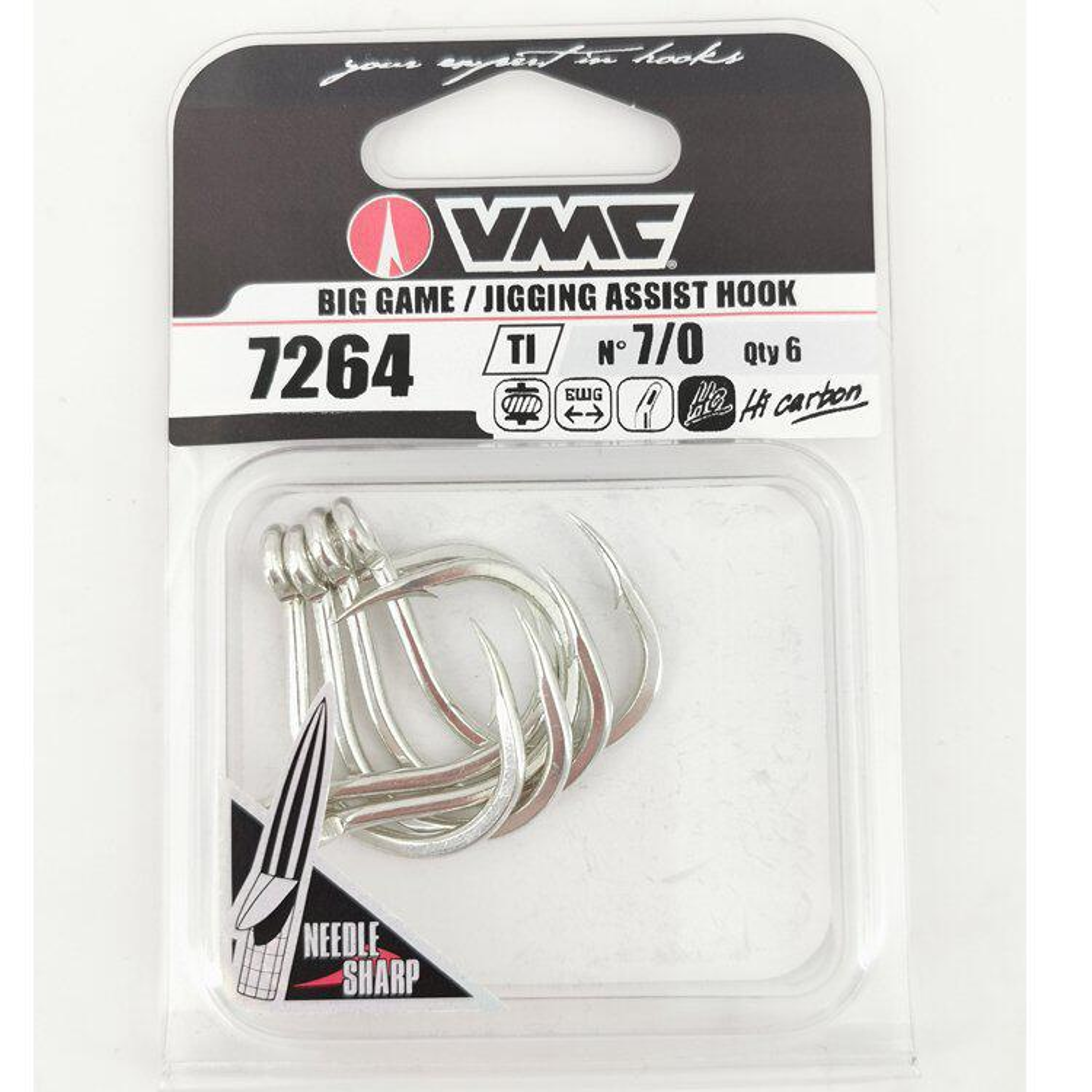 3//0 5//0 7//0 2 Stück für Speedjigs Jig VMC Assist Hook 7264 Heavy Duty Single Gr