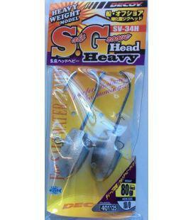Μολυβοκεφαλές Decoy Heavy Jighead Salt Groove SV-34H
