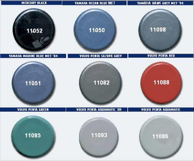 Yamaha Outboard Paint Colour Chart